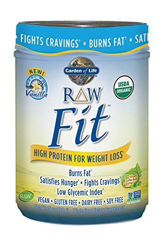 Buy Raw Fit High Protein For Weight Loss Vanilla 15 Oz 420 G Garden Of Life